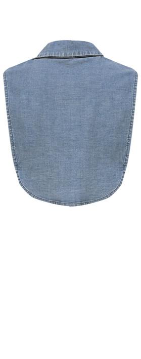 Sandwich Clothing Cotton Collar  Blue Denim