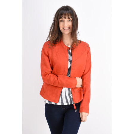 Sandwich Clothing Linen Biker Jacket - Red