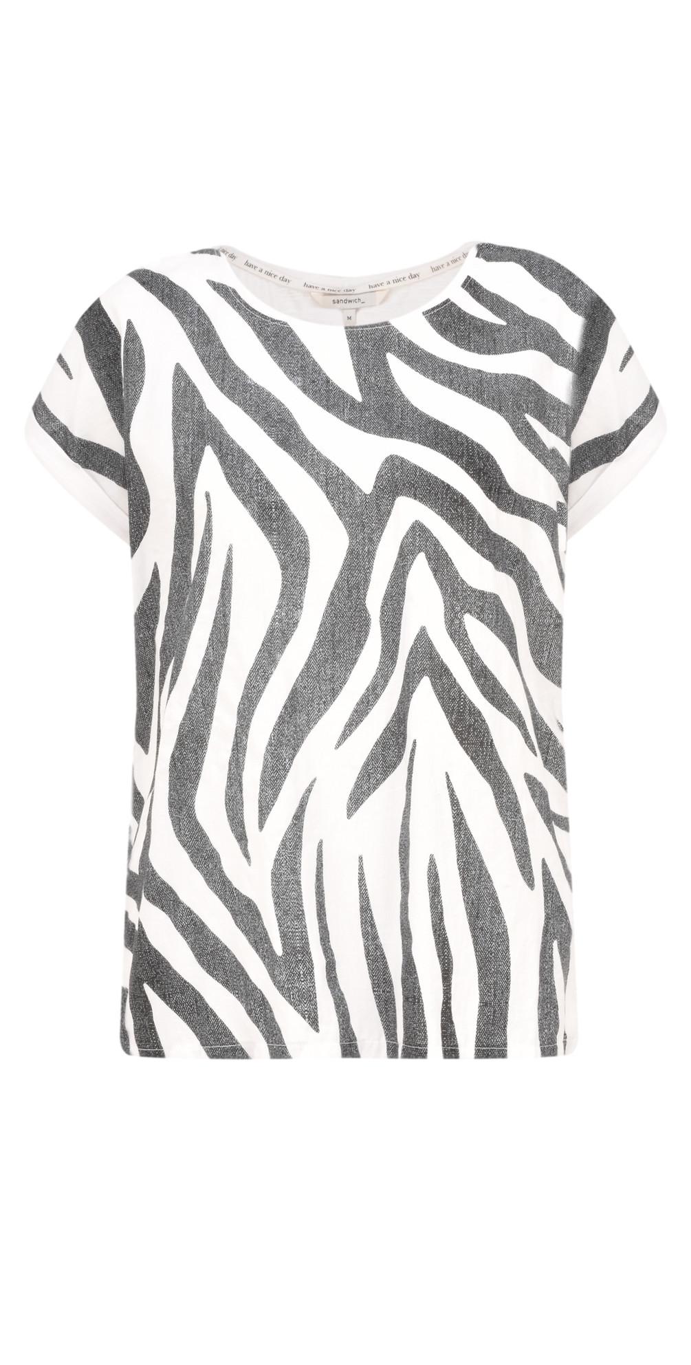 Zebra Jersey Top main image