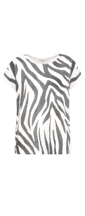 Sandwich Clothing Zebra Jersey Top Almost Black