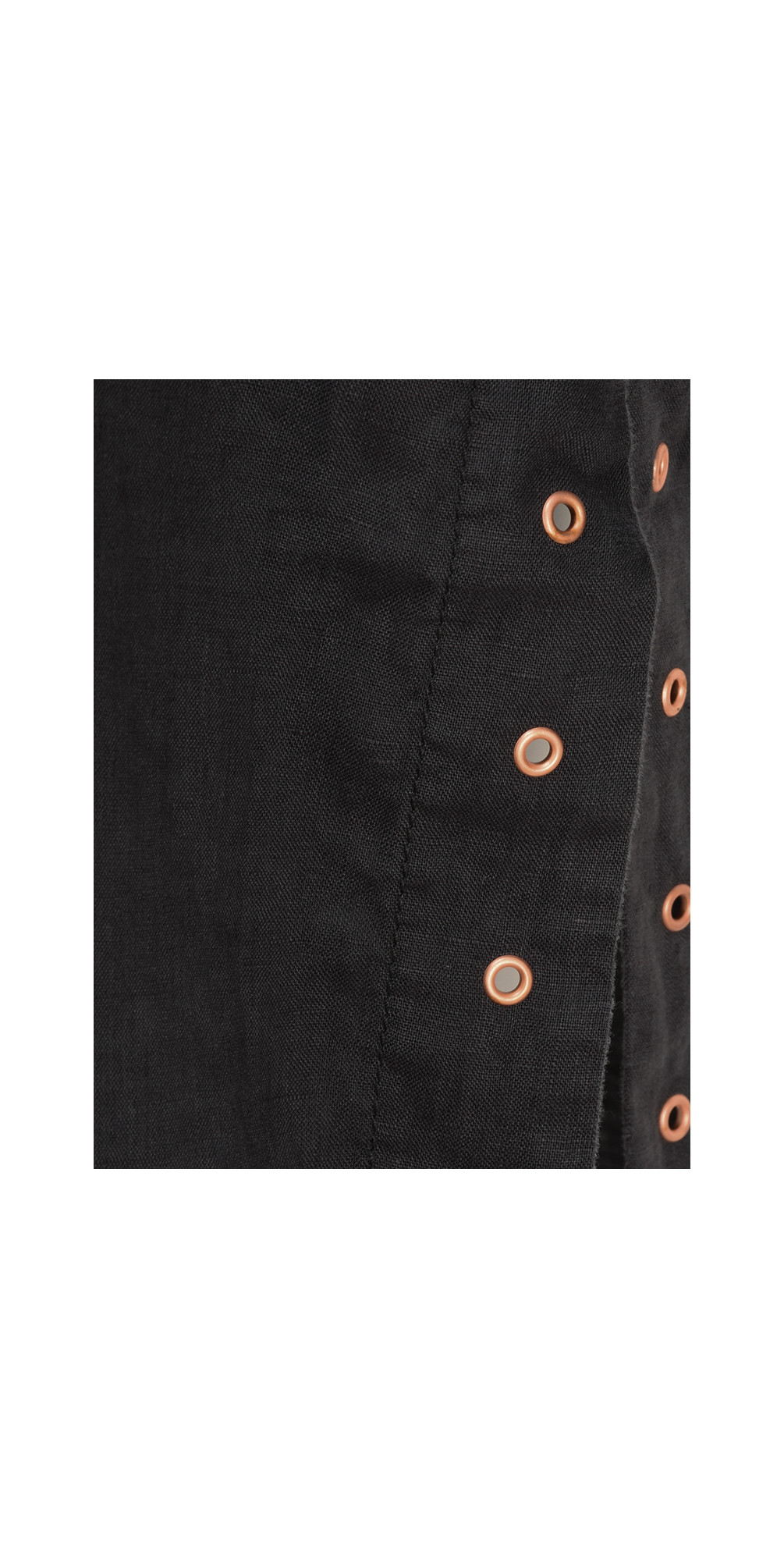Button Detail Linen Blouse main image