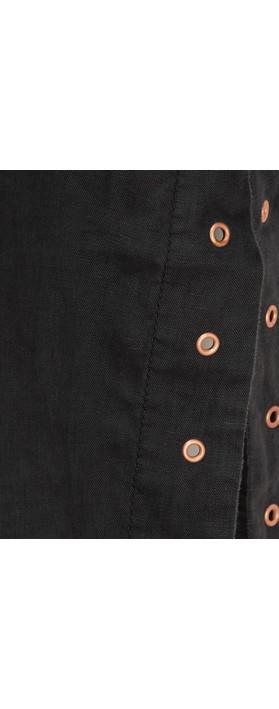 Sandwich Outlet Button Detail Linen Blouse Almost Black