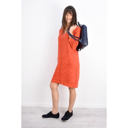 Sandwich Clothing Linen eyelet detail shirt dress - Red