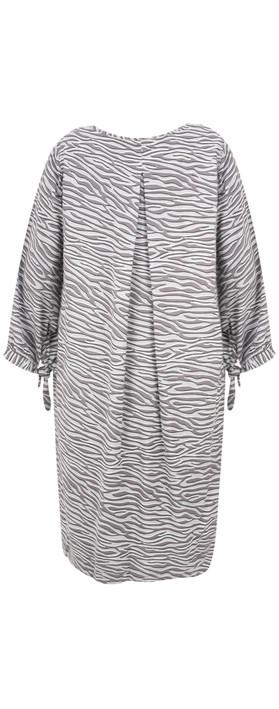 Sandwich Outlet Zebra Dobby Dress Almost Black