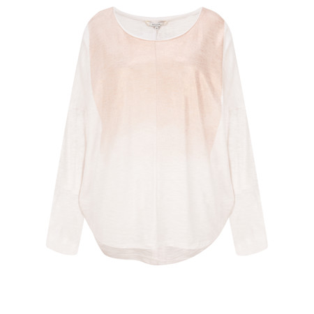 Sandwich Clothing Rose Sparkle Cotton Slub Top - White