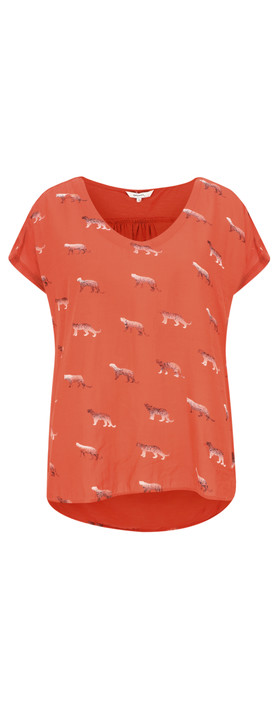 Sandwich Clothing Animal Top Burned Red