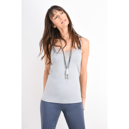 Sandwich Clothing Lace Trim Vest Top - Blue