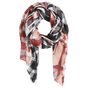 Sandwich Clothing Woven Abstract Zebra Two-Tone Scarf