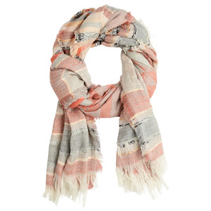 Sandwich Clothing Woven Stripe Metallic Thread Scarf