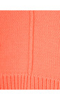 Sandwich Clothing Neon Coral Side Split Cotton Jumper