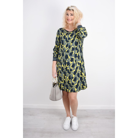 Sandwich Clothing Abstract Animal Spot Print Dress - Green