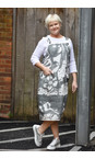 Grizas White/grey Greta Printed Linen Dungaree Dress
