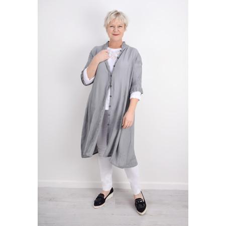 Grizas Egle Plain Crinkle Shirt Dress - Blue