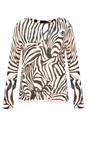Sandwich Clothing Washed Rose Zebra Jumper