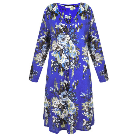 Masai Clothing Floral Gaynor Tunic - Blue