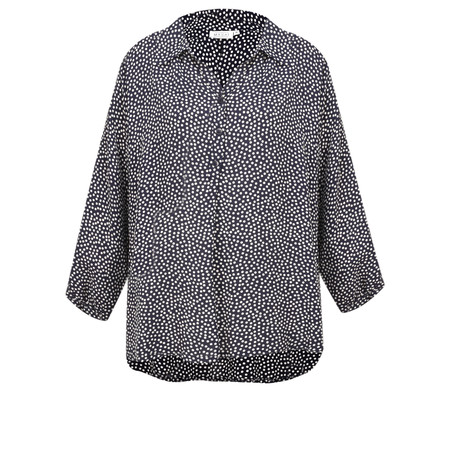 Masai Clothing Darryl  Spot Shirt Top - Blue