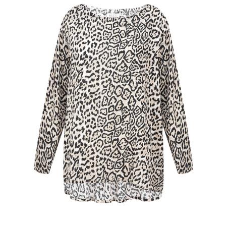 Masai Clothing Damali Leopard Top - Beige