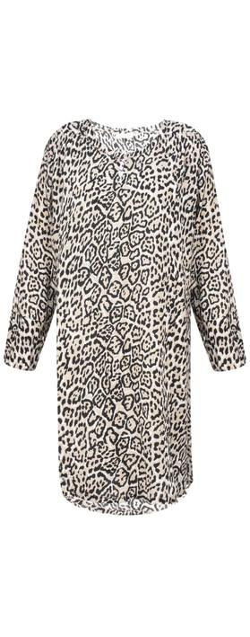 Masai Clothing Genetta Leopard Tunic Sand Org