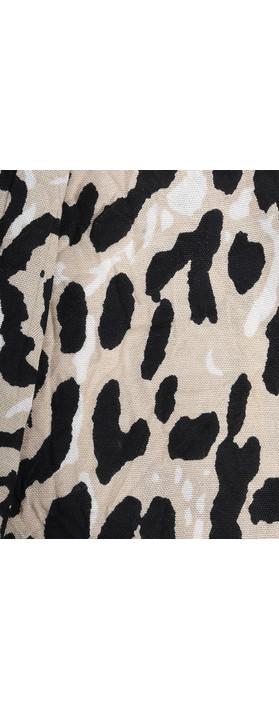 Masai Clothing Along Leopard Print Scarf Sand Org