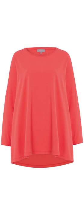 Sahara Cotton Jersey Oversized Top Poppy