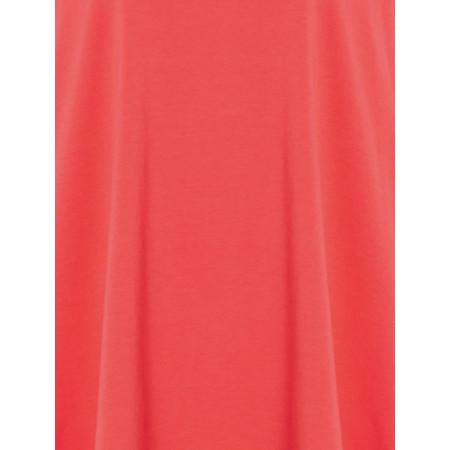 Sahara Cotton Jersey Oversized Top - Red