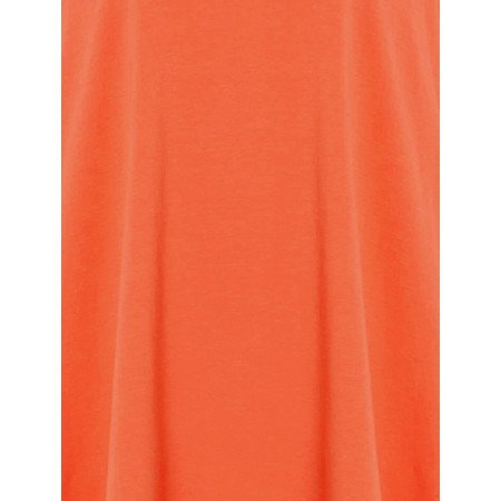 Sahara Cotton Jersey Oversized Top - Orange