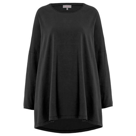 Sahara Cotton Jersey Oversized Top - Black