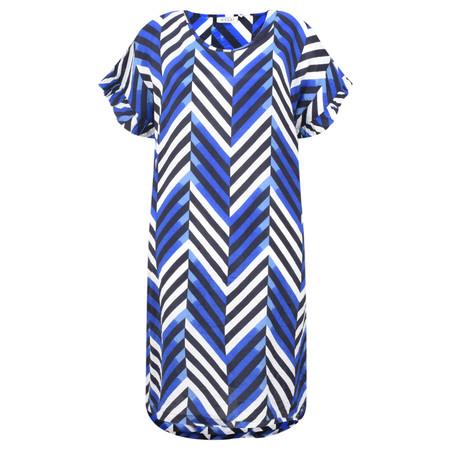 Masai Clothing Chevron Nara Dress - Blue