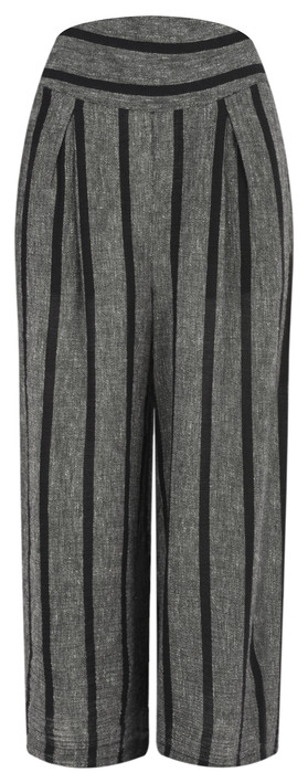 Masai Clothing Pusna Stripe Culotte Black