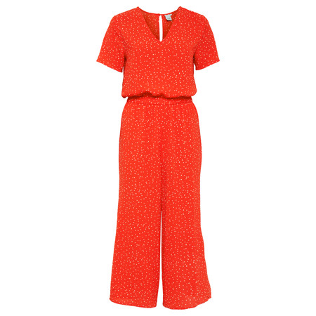 ICHI Bright Dot Jumpsuit - Orange