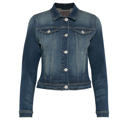 ICHI Stamp Jacket - Blue