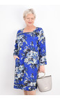 Masai Clothing Greek Blue Org Floral Nasira Dress