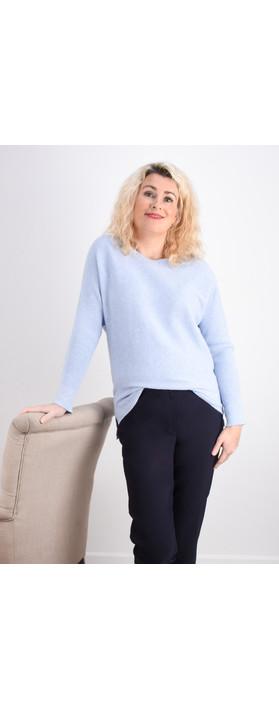 Fenella  Janey Rib Easyfit Jumper Pale Blue