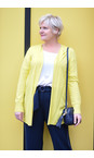 Sandwich Clothing Warm Yellow Long Open Thin Knit Cardigan
