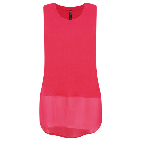 Foil Layered Sleeveless Top - Pink