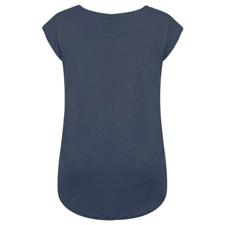 Foil Layered Look Silk Front Top - Blue