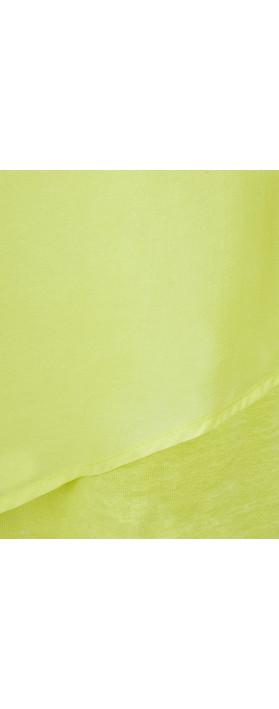 Foil Silk & Linen Flutter Top Island lime