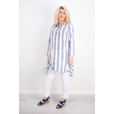 Adini Quay Stripe Quay Big Shirt - Blue