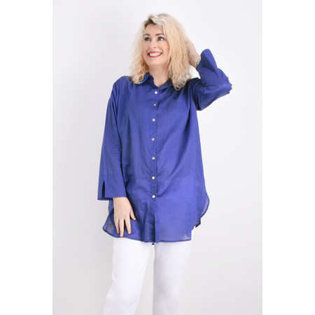 Adini Cotton Voile Leyla Tunic - Blue