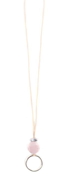 Eliza Gracious Areona Circle Resin Pendant Necklace Pink