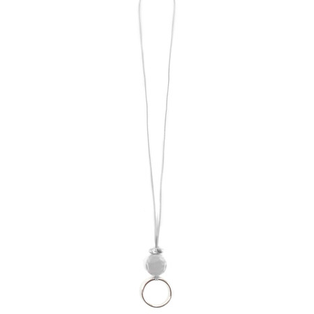 Eliza Gracious Areona Circle Resin Pendant Necklace - Blue