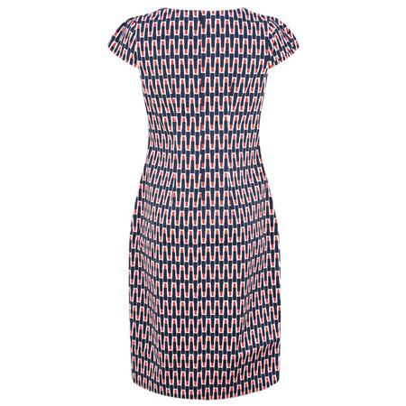 Foil Printed Pretty Versatile Cap Sleeve Dress - Multicoloured