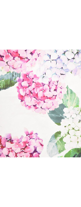 Foil Printed Floral Dress Hydrangea