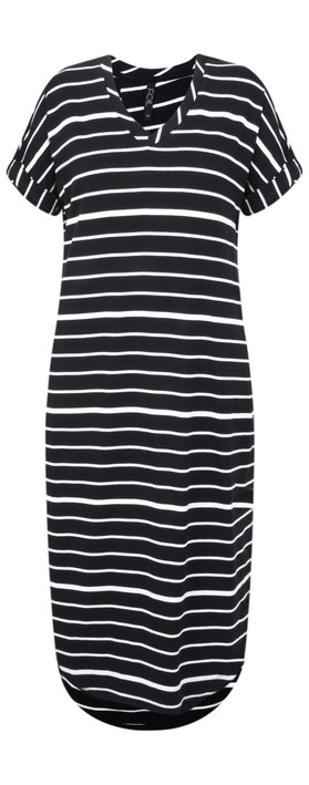 Foil Soft Focus Knot Dress Black/White