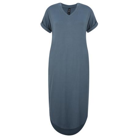 Foil Soft Focus Knot Dress - Blue