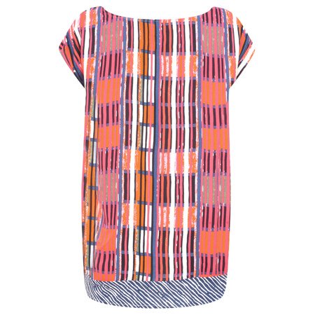 Foil Abstract Block Renewed Spirit Top - Multicoloured
