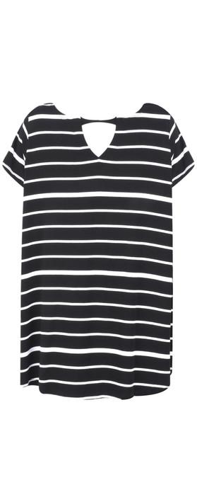 Foil Soft Focus Swing T-Shirt Black/White