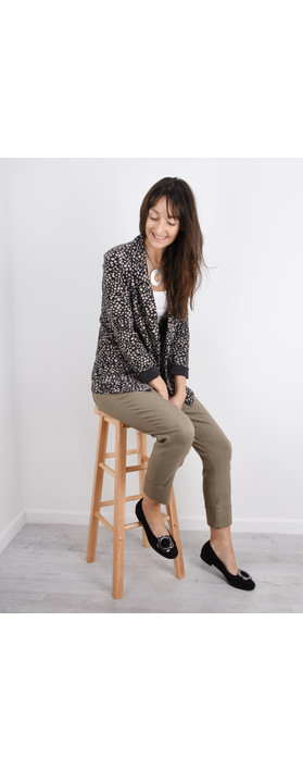 Sandwich Clothing French Terry Cheetah Blazer Almost Black