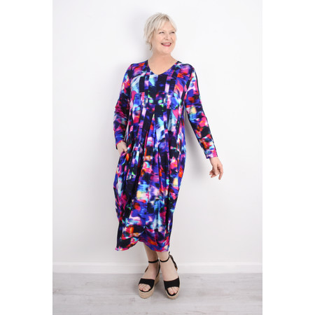 Sahara Mali Print Jersey Dress - Multicoloured
