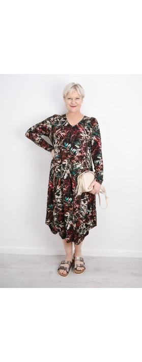 Sahara Leaf Print Jersey Dress Multi